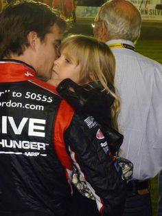 My photo of Jeff Gordon, last fall at Charlotte, with his little girl.