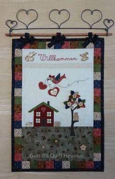 Materialpackung Wandquilt Willkommen  29cm x 42cm