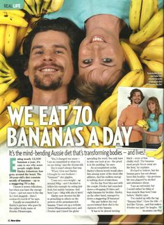 I love watching these two on YouTube. Harley also has a blog durianrider.com #30bananasaday