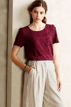 Embroidered Lace Tee