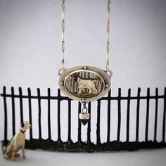 Vintage Dog Intaglio Sterling Silver by commemorativejewelry