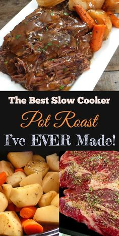 The Best Slow Cooker Pot Roast I& Ever Made! The Best Slow Cooker Pot Roast I& Ever Made! The Best Slow Cooker Pot Roast I& Ever Made! Roast Beef Recipes, Healthy Crockpot Recipes, Slow Cooker Recipes, Cooking Recipes, Crock Pot Recipes, Beef Meals, Crock Pot Dinners, Cooking Tips, Cooking Beef
