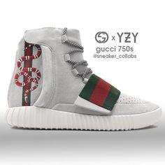 Save = fl ❤ Bi (◣_◢) Yeezy 750 x Gucci (remastered) Gucci Sneakers, Sneakers Mode, Best Sneakers, Custom Sneakers, Custom Shoes, Sneakers Fashion, Fashion Shoes, Kicks Shoes, Adidas Shoes