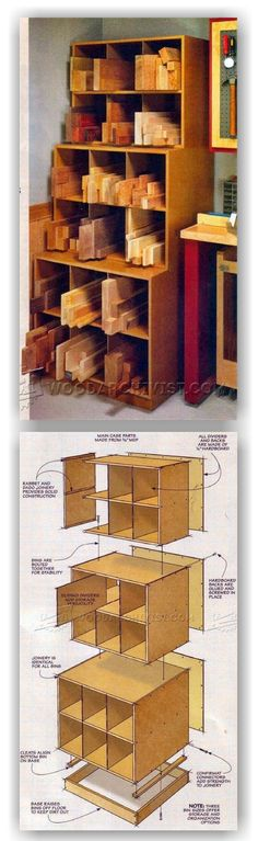 Woodworking encompasses a broad area of skills, specialties, and applications. Some beginners take on too much too soon or blow their savings on expensive woodworking tools and machines that they don' Woodworking Furniture Plans, Woodworking Basics, Woodworking Projects Diy, Woodworking Shop, Workshop Storage, Workshop Organization, Lumber Storage, Wood Storage, Wood Shop Projects