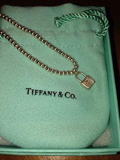 "Lovely sterling silver Tiffany & Co. Bracelet with lock. 6 3/4"" $119"