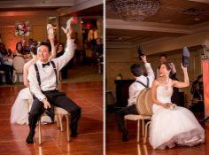 Shoe Game photo by Idalia Photography NJ wedding photographer Olde Mill Inn wedding www.idaliaphotography.com