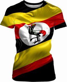I love flags Uganda, My Love, T Shirt, Flag, Supreme T Shirt, Tee Shirt, Tee