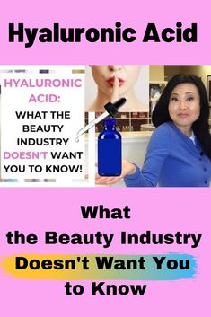 Hyaluronic Acid What the Beauty Industry Doesn't Want You to Know Hyaluronic Acid is being added to almost every skin care product. Best Skin Serum, Best Anti Aging Serum, Anti Aging Skin Care, Natural Skin Care, Facial Serum, Eye Serum, Natural Beauty, Facial Care, Best Face Products