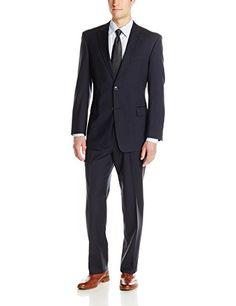 Tommy Hilfiger Men's Keene 2-Button Side Vent Suit, Navy, 46 Regular Tommy Hilfiger http://www.amazon.com/dp/B00T3YJXAC/ref=cm_sw_r_pi_dp_f8bevb15KV13B
