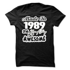 Awesome 1989 Made In JDZ1 T-Shirts, Hoodies. GET IT ==► https://www.sunfrog.com/Birth-Years/Awesome--1989--Made-In--JDZ1.html?id=41382