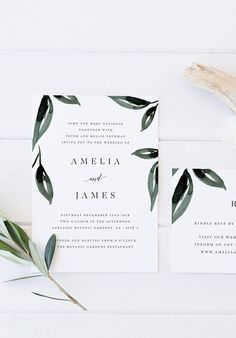 Printable Eucalyptus Leaf Wedding Suite / Available on Etsy / by Rachel Vanderzon