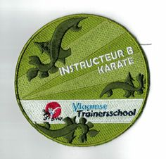 Vlaamse Trainersschool badge instructeur. ***ibadge.com*** Karate, Badges, Sports, Hs Sports, Badge, Sport, Exercise
