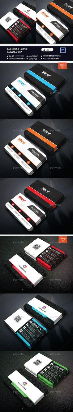 Business Card Bundle - Business Cards Print Templates Modelos De Impressão baf660a6f5a
