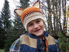 Crochet Fox Hat newborn to 18 month size by PortalElements on Etsy