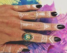 white henna tribe life tattoo :)
