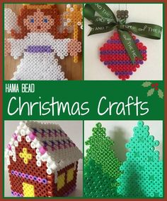 Hama bead Christmas crafts for children