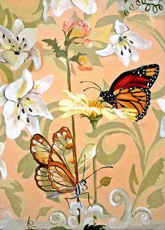 Eight Butterflies by janeece chesbrough, New England Artist