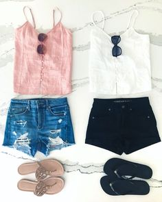summer outfits! casual comfy Memorial Day blush tones black and white