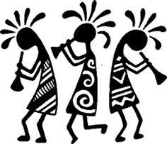 36 Kokopelli Tattoos - Meanings, Photos, Designs for men and women Worli Painting, Fabric Painting, American Indian Art, Native American Art, Art Rupestre, Afrique Art, African Paintings, Art Premier, Southwest Art
