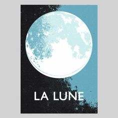 La Lune Print, £36, now featured on Fab.