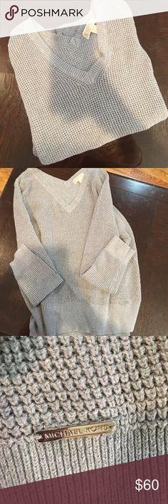 MK Oversized Sweater Fits like a vneck, slightly oversized. I've only worn a couple times MICHAEL Michael Kors Sweaters V-Necks