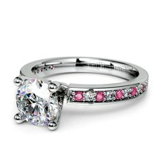 Beautiful pink sapphire engagement ring... do you like it? ❤
