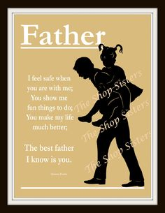 Father Daughter Father's Day Poem Dad