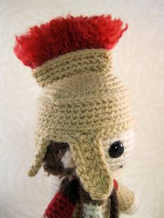 Roman Soldier Amigurumi Pattern PDF by lucyravenscar on Etsy Diy Craft Projects, Crafts, Roman Soldiers, Leather Armor, Roman History, Dk Weight Yarn, Double Knitting, Yarn Colors, Embroidery Thread
