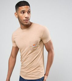 Ellesse Longline Muscle Fit T-Shirt With Pocket