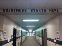 The entrance to the hallway of our Kindergarten/1st grade hall! Rutledge Elementary - I love the changes!