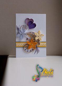 Neli Quilling Art: Quilling cards /10.5 cm - 7.5 cm/ More