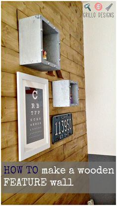 Easy to do wooden feature wall using timber floor boards!