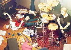Given Boys-Love Anime Reveals Promo Video, More Cast, Theme Song Artists, Visual, July 11 Premiere Otaku Anime, Manga Anime, Anime Art, Anime Love, Anime Guys, Rock Lee, Like Someone In Love, Shounen Ai Anime, Star Y Marco