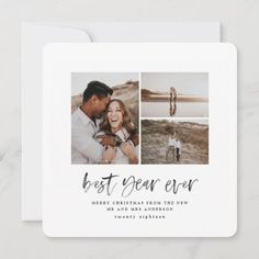 Best year ever watercolor photo flat card Modern Christmas Cards, Christmas Photo Cards, Christmas Photos, Christmas Holiday, Holiday Cards, Holiday Beach, Christmas Postcards, Simple Christmas, Album Vintage