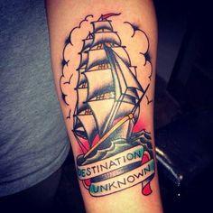 Pirate Ship Tattoos, Deathly Hallows Tattoo, Tattoo Inspiration, Old School, Boat, Drawings, Tattoo Ideas, Tatoo, Tatuajes
