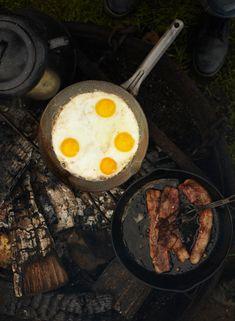 All food tastes 10 times better when camping. Eggs & Bacon = Heaven. Especially bacon.