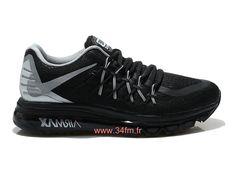 online store 52a13 e4d01 Nike Air Max 2015 Chaussures de Running Pour Homme Noir/Gris 698902-ID1-