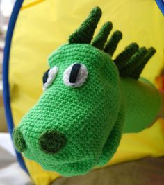 Picture of Crochet a Cute Dinosaur Puppet