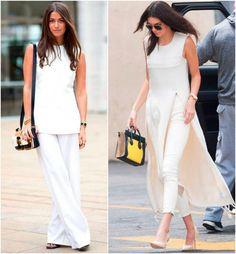 O off white combina muito com minimalismo. Pense numa roupa de cortes retos, sem detalhes!