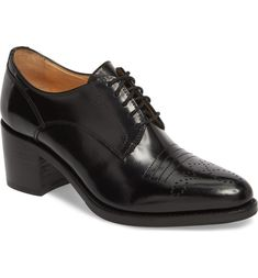 The Office of Angela Scott Miss Button Derby (Women) Interview Shoes, Handmade Leather Shoes, Office Shoes, Winter Shoes, Beautiful Shoes, Chunky Heels, Autumn Winter Fashion, Derby, Oxford Shoes