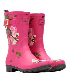 Look at this #zulilyfind! Pink Floral Mollywelly Rain Boot - Women #zulilyfinds