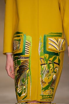 I love this abstract embroidery by Peter Pilotto Fall 2013