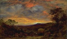 Harvest Home, Sunset: The Last Load, 1853, John Linnell. English (1792 - 1882)