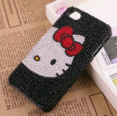 Hello kitty iPhone 4 Case  Luxury Swarovski by diyiphonecover, $23.99