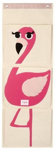 Perky and pink, this cheery flamingo wall organizer from 3 Sprouts grows with… Hanging Wall Organizer, Wand Organizer, Hanging Storage, Wall Storage, Wall Shelves, Nursery Storage, Kids Storage, Storage Ideas, Nursery Furniture
