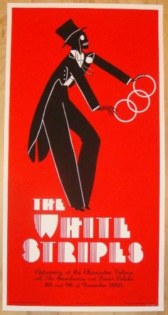2005 The White Stripes - London II Concert Poster by Rob Jones