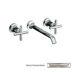 Master bath faucet KOHLER Purist Polished Nickel 2-Handle Widespread Bathroom Faucet