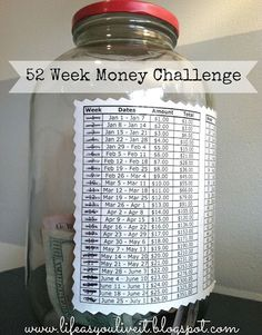 DIY 52 Week Money Challenge - Going to give this a try for 2014!!!