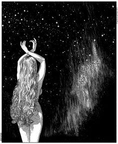 Еротични илюстрации в черно и бяло | High View Art