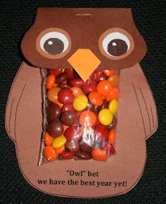 Owl thank you bags